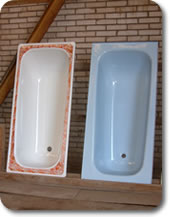 Nemiroff group porcelainized steel products including for Bathtub liner problems